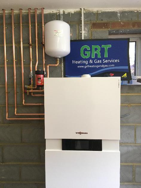 Boiler installation by GRT heating and gas services in Staines upon Thames.
