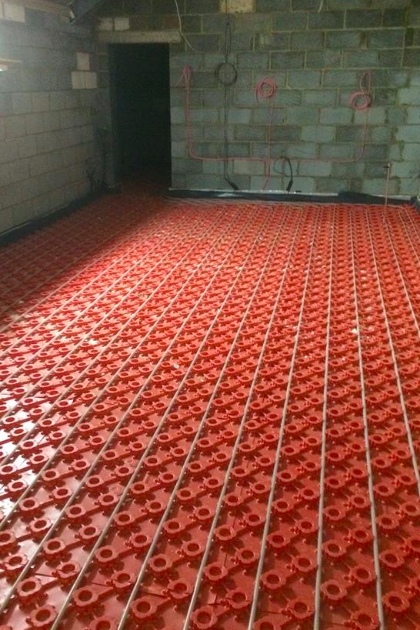Underfloor heating install by GRT Heating & Gas Services of Staines